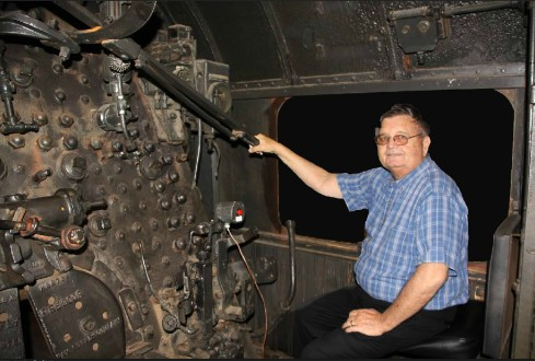 Bob at the controls of the real thing